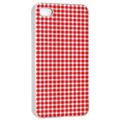 Plaid Red White Line Apple Iphone 4/4s Seamless Case (white) by Mariart