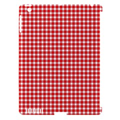 Plaid Red White Line Apple Ipad 3/4 Hardshell Case (compatible With Smart Cover) by Mariart