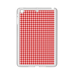 Plaid Red White Line Ipad Mini 2 Enamel Coated Cases by Mariart