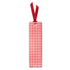 Plaid Red White Line Small Book Marks by Mariart