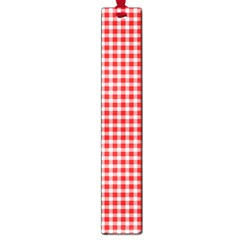 Plaid Red White Line Large Book Marks by Mariart