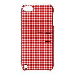 Plaid Red White Line Apple Ipod Touch 5 Hardshell Case With Stand by Mariart