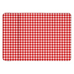 Plaid Red White Line Samsung Galaxy Tab 8 9  P7300 Flip Case by Mariart