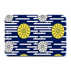 Sunflower Line Blue Yellpw Plate Mats by Mariart