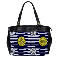 Sunflower Line Blue Yellpw Office Handbags by Mariart
