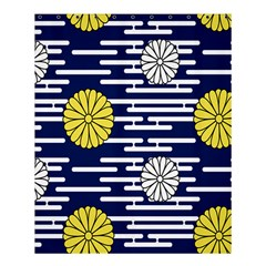 Sunflower Line Blue Yellpw Shower Curtain 60  X 72  (medium)  by Mariart
