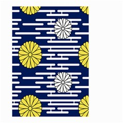 Sunflower Line Blue Yellpw Small Garden Flag (two Sides) by Mariart