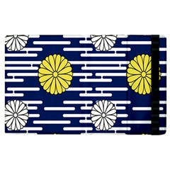 Sunflower Line Blue Yellpw Apple Ipad 2 Flip Case by Mariart