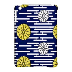 Sunflower Line Blue Yellpw Apple Ipad Mini Hardshell Case (compatible With Smart Cover) by Mariart