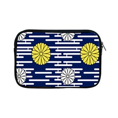 Sunflower Line Blue Yellpw Apple Ipad Mini Zipper Cases by Mariart