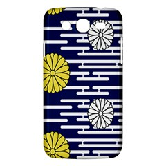 Sunflower Line Blue Yellpw Samsung Galaxy Mega 5 8 I9152 Hardshell Case  by Mariart