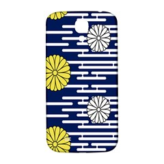 Sunflower Line Blue Yellpw Samsung Galaxy S4 I9500/i9505  Hardshell Back Case by Mariart