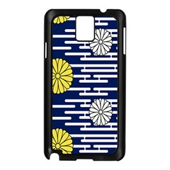 Sunflower Line Blue Yellpw Samsung Galaxy Note 3 N9005 Case (black) by Mariart