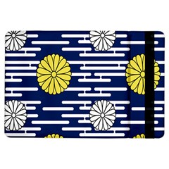 Sunflower Line Blue Yellpw Ipad Air Flip by Mariart