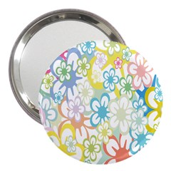 Star Flower Rainbow Sunflower Sakura 3  Handbag Mirrors by Mariart