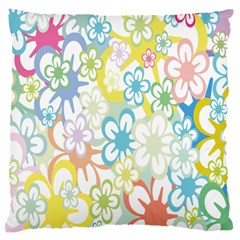 Star Flower Rainbow Sunflower Sakura Large Flano Cushion Case (two Sides) by Mariart