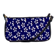 Star Flower Blue White Shoulder Clutch Bags by Mariart