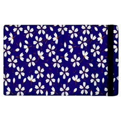 Star Flower Blue White Apple Ipad 2 Flip Case by Mariart