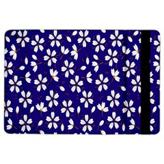 Star Flower Blue White Ipad Air 2 Flip