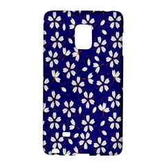 Star Flower Blue White Galaxy Note Edge by Mariart