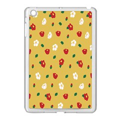 Tulip Sunflower Sakura Flower Floral Red White Leaf Green Apple Ipad Mini Case (white) by Mariart