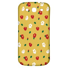 Tulip Sunflower Sakura Flower Floral Red White Leaf Green Samsung Galaxy S3 S Iii Classic Hardshell Back Case by Mariart