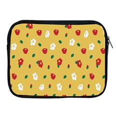 Tulip Sunflower Sakura Flower Floral Red White Leaf Green Apple Ipad 2/3/4 Zipper Cases by Mariart