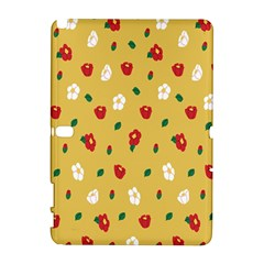 Tulip Sunflower Sakura Flower Floral Red White Leaf Green Galaxy Note 1 by Mariart