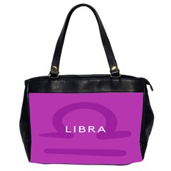 Zodizc Libra Purple Office Handbags (2 Sides)  by Mariart