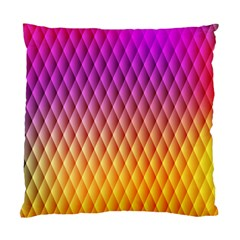 Triangle Plaid Chevron Wave Pink Purple Yellow Rainbow Standard Cushion Case (two Sides) by Mariart