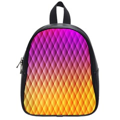 Triangle Plaid Chevron Wave Pink Purple Yellow Rainbow School Bags (small)  by Mariart
