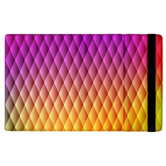 Triangle Plaid Chevron Wave Pink Purple Yellow Rainbow Apple Ipad 3/4 Flip Case by Mariart