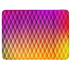 Triangle Plaid Chevron Wave Pink Purple Yellow Rainbow Samsung Galaxy Tab 7  P1000 Flip Case by Mariart
