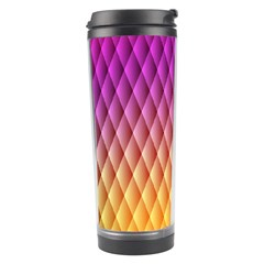 Triangle Plaid Chevron Wave Pink Purple Yellow Rainbow Travel Tumbler by Mariart