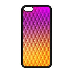 Triangle Plaid Chevron Wave Pink Purple Yellow Rainbow Apple Iphone 5c Seamless Case (black) by Mariart