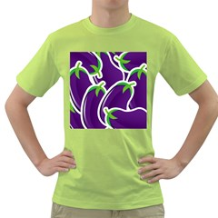 Vegetable Eggplant Purple Green Green T Shirt by Mariart