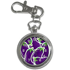 Vegetable Eggplant Purple Green Key Chain Watches by Mariart