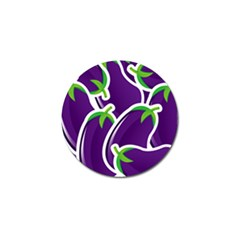 Vegetable Eggplant Purple Green Golf Ball Marker (4 Pack) by Mariart