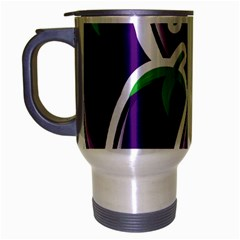 Vegetable Eggplant Purple Green Travel Mug (silver Gray) by Mariart