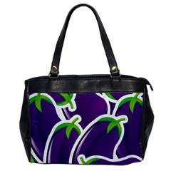 Vegetable Eggplant Purple Green Office Handbags by Mariart