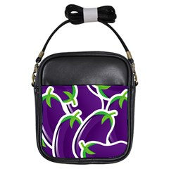Vegetable Eggplant Purple Green Girls Sling Bags by Mariart