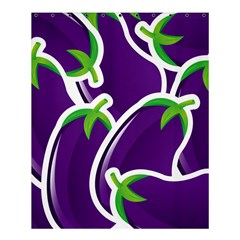 Vegetable Eggplant Purple Green Shower Curtain 60  X 72  (medium)  by Mariart