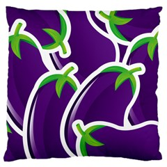 Vegetable Eggplant Purple Green Large Cushion Case (one Side) by Mariart
