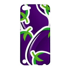 Vegetable Eggplant Purple Green Apple Ipod Touch 5 Hardshell Case by Mariart
