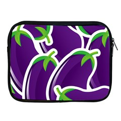 Vegetable Eggplant Purple Green Apple Ipad 2/3/4 Zipper Cases by Mariart