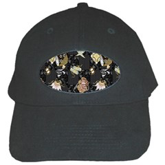 Traditional Music Drum Batik Black Cap by Mariart