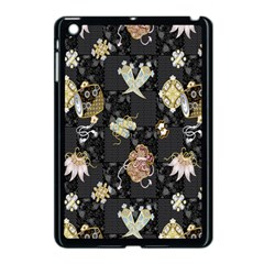 Traditional Music Drum Batik Apple Ipad Mini Case (black) by Mariart