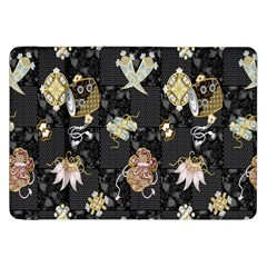 Traditional Music Drum Batik Samsung Galaxy Tab 8 9  P7300 Flip Case by Mariart