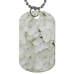 Hydrangea Flowers Blossom White Floral Photography Elegant Bridal Chic  Dog Tag (one Side) by yoursparklingshop