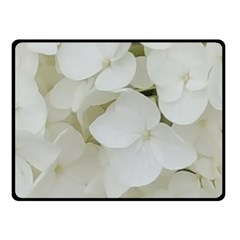 Hydrangea Flowers Blossom White Floral Photography Elegant Bridal Chic  Fleece Blanket (small) by yoursparklingshop